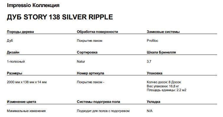 ДУБ STORY 138 SILVER RIPPLE